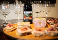 Wine tasting with fromage and charcuterie at mellowood vineyard
